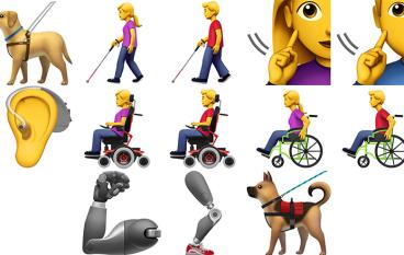 Apple 提出多款殘障人士 Emoji 方案