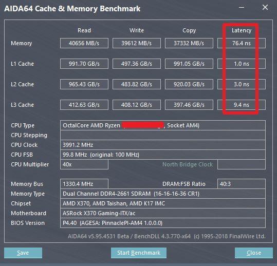 疑似 Ryzen 7 2700X 的數據在 AIDA64 上曝光。