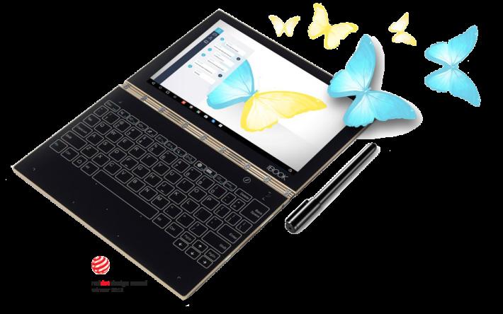 今次蘋果申請的專利與 Lenovo Yoga Book 概念相似。