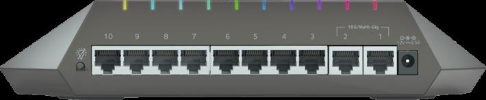 每個埠位都可用不同顏色代表。