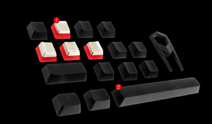 GK80 和 GK70 均附送 16 個特別鍵帽。