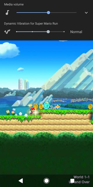 遊戲亦支援 Dynamic Vibration System,同樣按下音量調整功能時,就會出現選項。