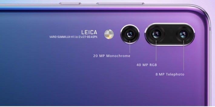 上月底發表的 Huawei P20 Pro ,不單是 3 鏡頭系統,還有超高像素的鏡頭。