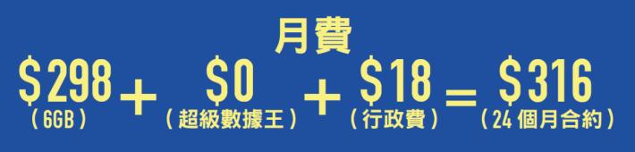 3 香港 4G Router 合用之月費計畫。