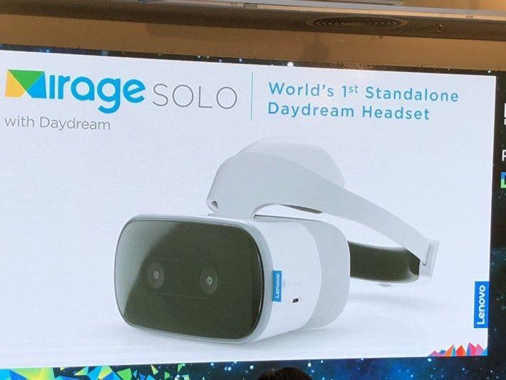Mirage Solo 重 645g ,以 VR 裝置來說算比較重。