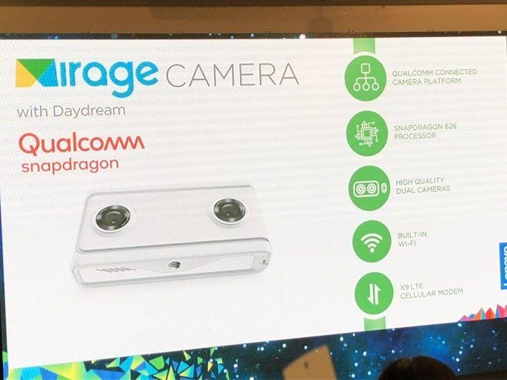 Mirage Camera 支援 4K VR180 拍攝。