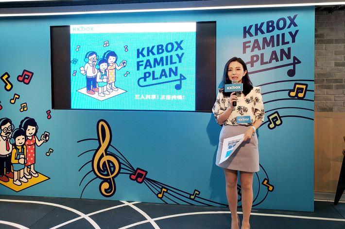 KKBOX 業務發展總監黃詠妮表示,3 人的家庭共享計劃可謂專為香港用戶而設。