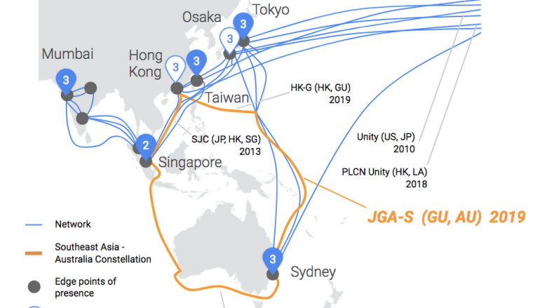 Google 再舖新海纜 形成亞太區環狀海纜