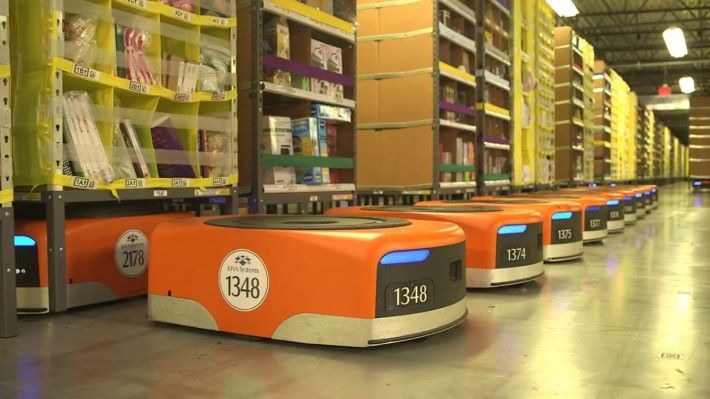 Amazon 多年來已採用 Kiva System 的機械人來管理貨倉