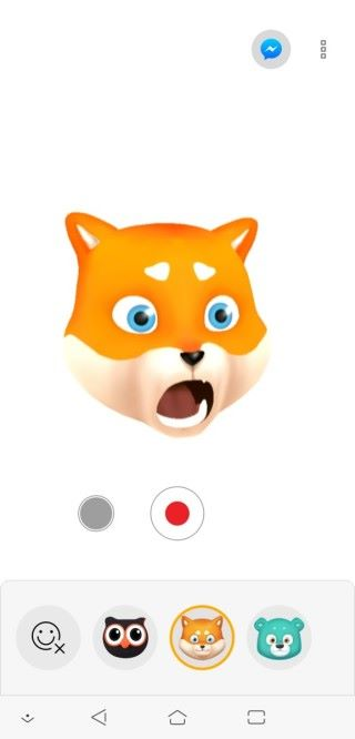 ZeniMoji 將用戶的面部表情、聲音及頭部動作與 Zenny 同步,但目前只有三款可選擇。