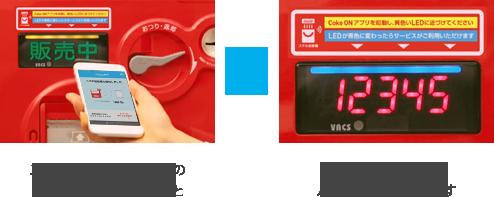 打開應用程式,並將會手機貼近販賣機進行確認。