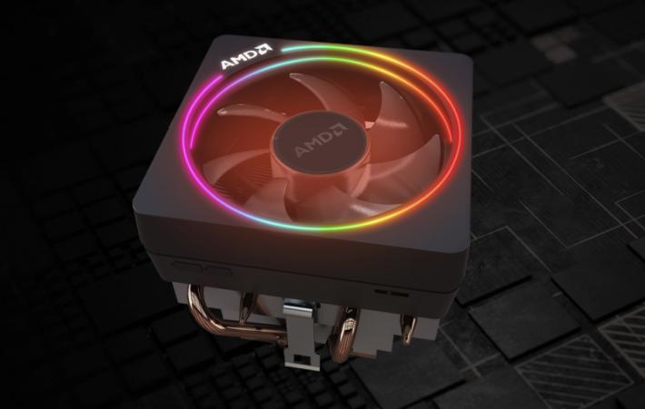 AMD Wraith Prism CPU 風扇支援彩虹燈光效果,只需搭配支援 RGB 的主機板便可。