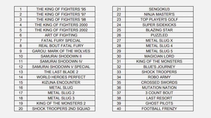 海外版遊戲名單