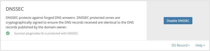 9. 這時回到 CloudFlare ,按下第 3 步中的「 Continue 」鍵,就會看到 CloudFlare 會翻查 HKDNR 的資料,以確定雙方的設定一致。成功的話就會顯示「 Success 」字樣。