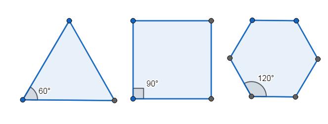 60 、 90 和 120 度才能平面密鋪, 你知道原因為何嗎?