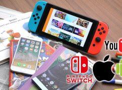 家長控制電子平台 Switch, iOS, Android, YouTube