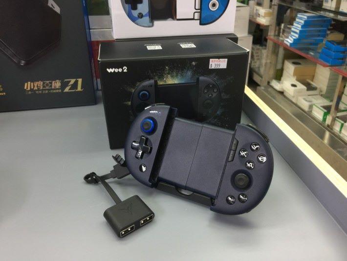 Wee2 手掣設有 USB 介面,一物二用。