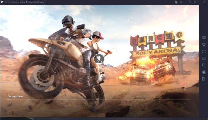 遊戲下載完成後畫面將自動彈出,細心等待後即可進入遊戲。