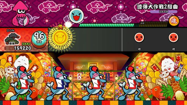 Switch 版 《太鼓之達人》遊戲畫面