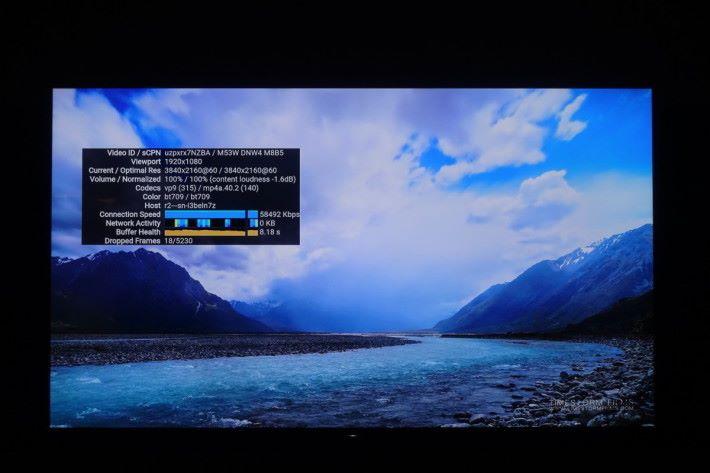 目前 Now E 自家內容提供全高清畫質,不過在 YouTube 內可播放 4K 內容。