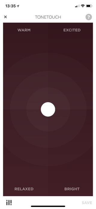配合 Beoplay 程式,可自行調節 EQ。
