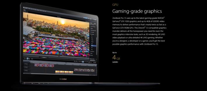 做到如此纖薄,並不可能配備 GTX 1080 級數顯示卡,但也具備 GTX 1050,可處理簡單的圖像工作。