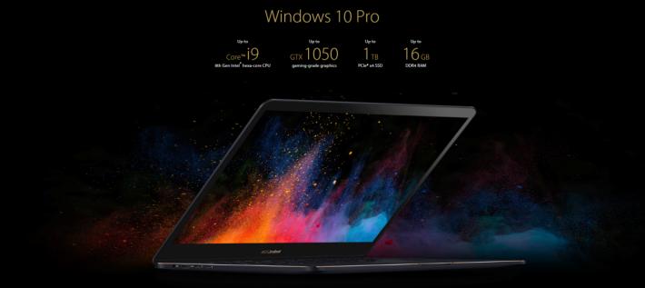 ASUS UX550GD 可能是其中一款最薄的 i9 CPU Notebook。