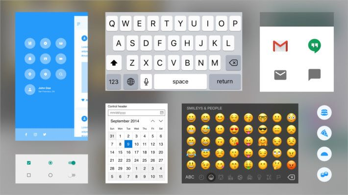 提供 Apple、Google 和 Microsoft 作業系統的 UI Kit。