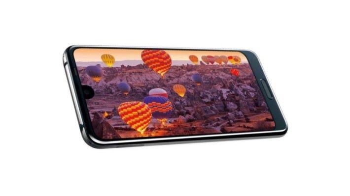 採用 6 吋 IGZO 屏幕,屏幕只有鏡頭的位置有一個小小的瀏海。