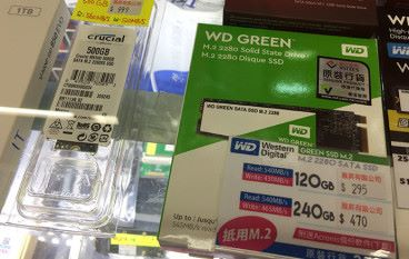 """【場報】貼近 2.5"""" WD 、 Crucial M.2 SSD 齊落價"""