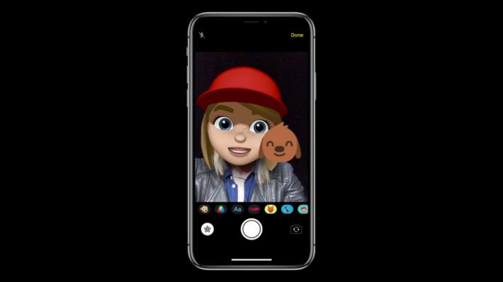 Memoji 應用在自己拍照上