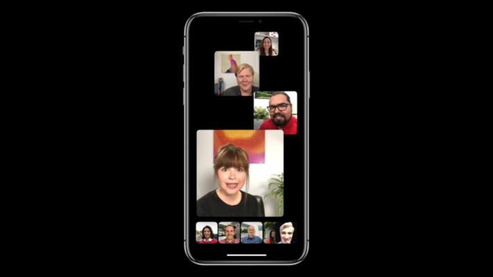 最多支援 32 人的 FaceTime 會議