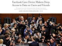 紐約時報指 Facebook 讓手機廠商未得許可取得用戶資料