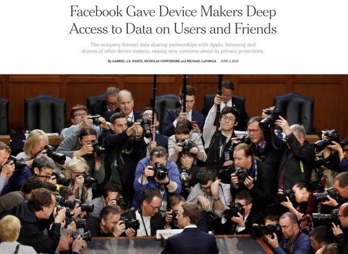 紐約時報報道 Facebook 讓超過 60 間手機生產商可以在沒有用戶明確同意下,存取 Facebook 用戶及朋友的資料。