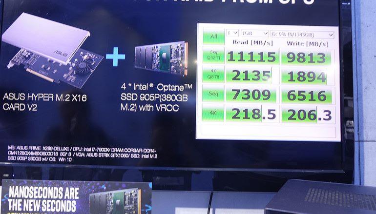 【Computex2018】高舉Intel M.2 Optane SSD 905P 各主機板廠商展示4x RAID方案