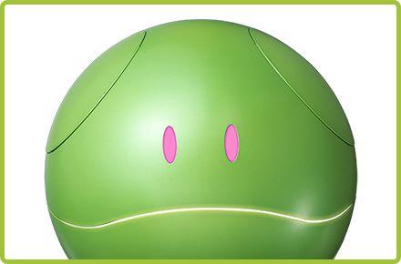 眼和口裡都藏有 LED 燈,可以透過顏色和閃動來表達表情。