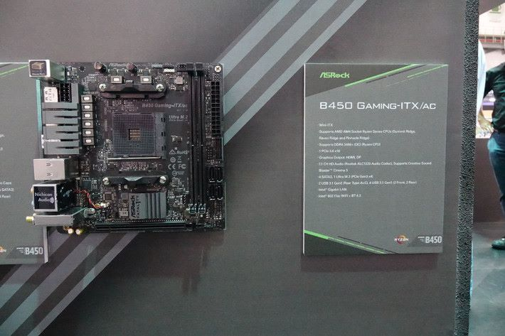 少數採用 Mini-ITX 設計的 B450 GAMING-ITX/AC