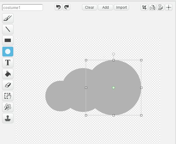 Step 2: 畫上三個有部分重疊的圓。