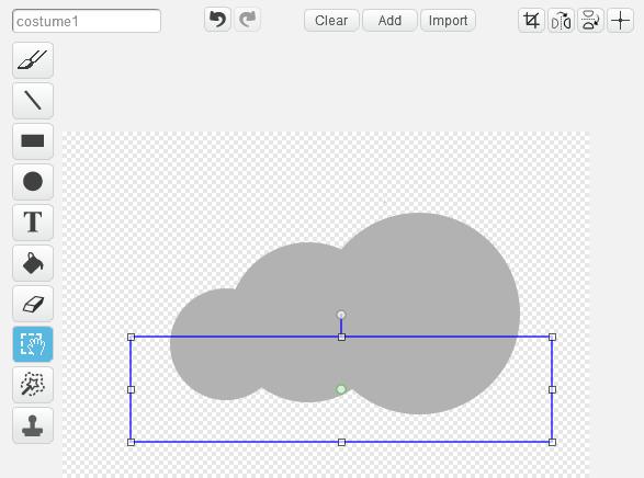 利用 Select 選擇圖形的下部分並刪去。
