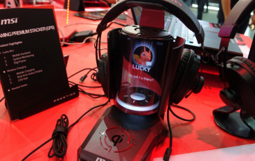 【Computex 2018】終極浮誇 MSI GPS 耳機架 Qi 無線充電 + 全息影像顯示手機資訊