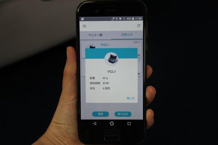 能透過手機 apps 了解主子的使用情況。