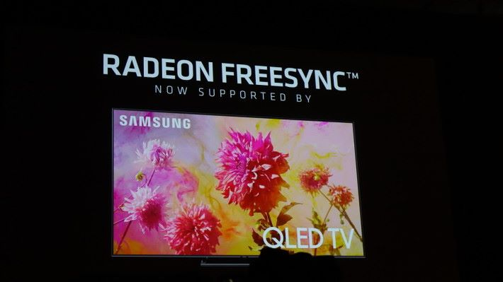 Samsung QLED 電視也支援 FreeSync 了。