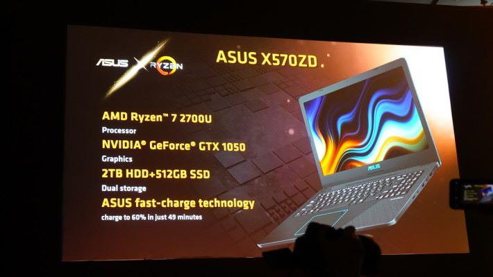 ASUS 也有新系列 Ryzen CPU Notebook,不過說到用 NVIDIA GTX 1050,就引起哄堂大笑。