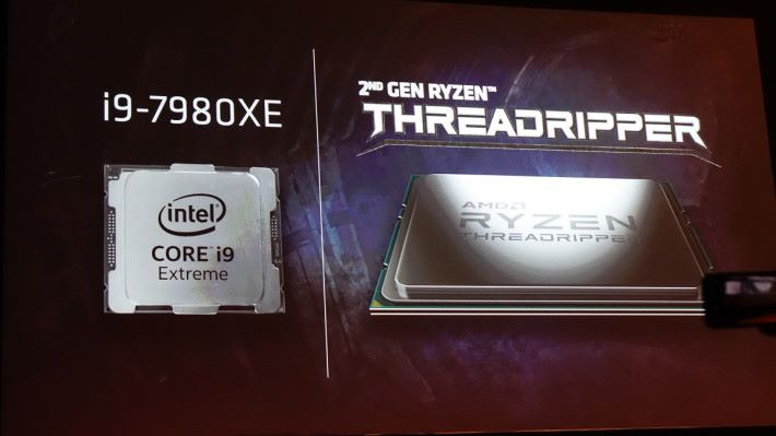 示範 32 核 Threadripper 與 i9-7980XE 決鬥。