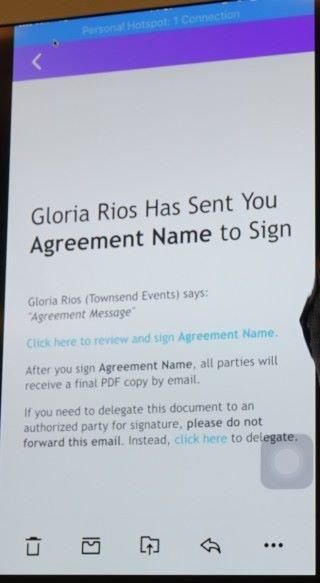 簽署人就會收到郵件通知,按進連結即可簽署。
