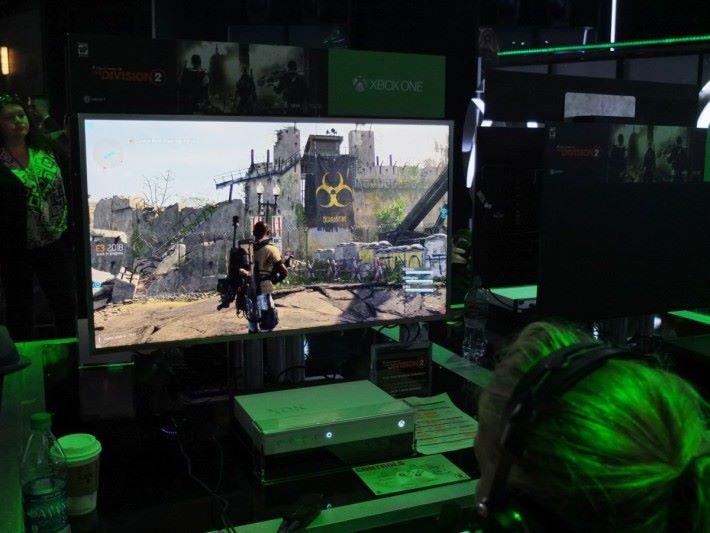 遊戲地圖未見「Dark Zone」的範圍,不過試玩版可以發現隔離區域,相信正式版會解放。