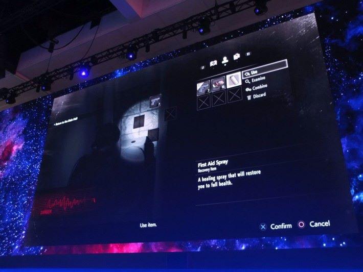 道具系統設計類似《BioHazard 7》,玩家能更快使用道具。