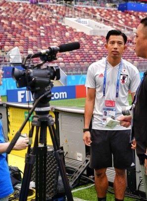 攝製隊靠直播裝置「發功」 世界盃影片直送電視製作室