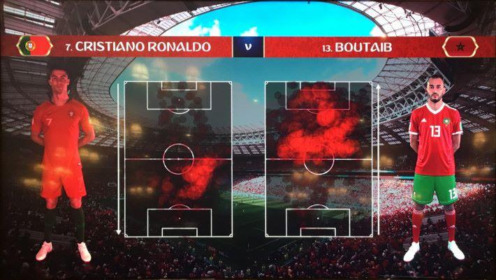 中場及賽後都會有比高清節目中所見到的資料圖表更有詳盡,讓球迷更加了解球賽進程。