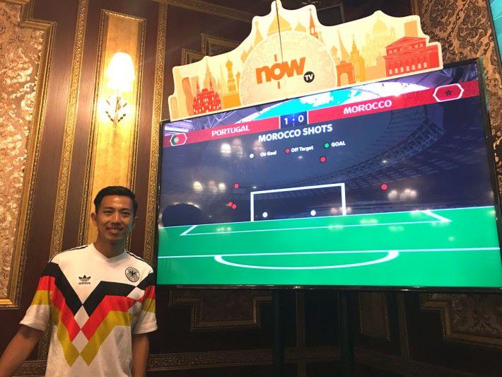 今次隨 Now TV 攝製隊到俄羅斯的香港門將謝德謙指,4K 頻道提供更詳盡的場事資訊,有助球迷了解更多細節。